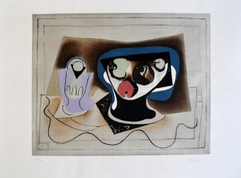 Composition with Glass and Fruitbowl by Pablo Picasso