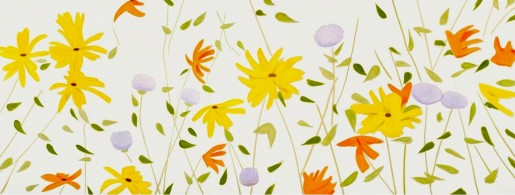 Alex Katz, Summer Flowers, 2018