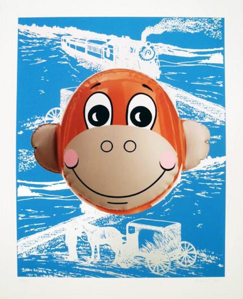 Jeff Koons, Monkey Train (Blue), 2007
