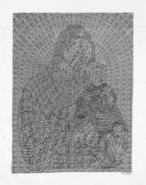 Thomas Bayrle, Madonna Croche, 1988