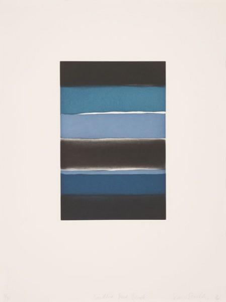 Sean Scully, Landline Blue Black, 2016