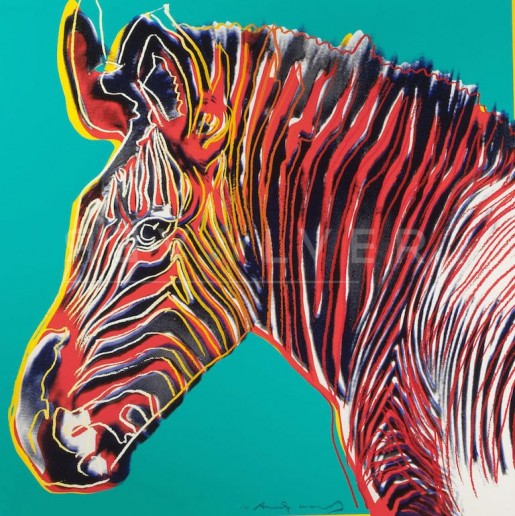 "Andy Warhol, Grevy's Zebra (FS II.300), from the Portfolio ""Endangered Species"", 1983"