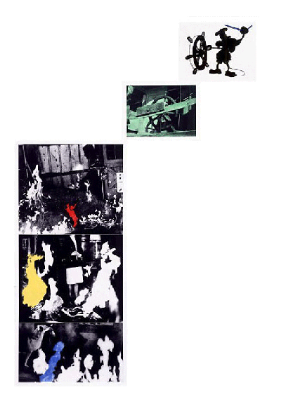 John Baldessari-Helmsman (With Various Fires)