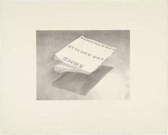Some Los Angeles Apartments - from the Book Covers series by Ed Ruscha