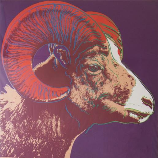 "Andy Warhol, Bighorn Ram (FS II.302) from the Portfolio ""Endangered Species"", 1983"
