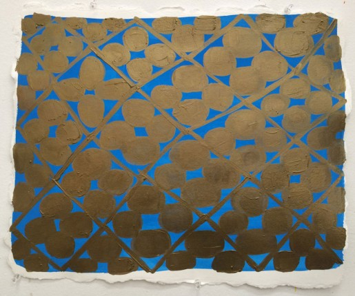 Judy Ledgerwood, Study for Giotto's Joy Wall Painting, 2014