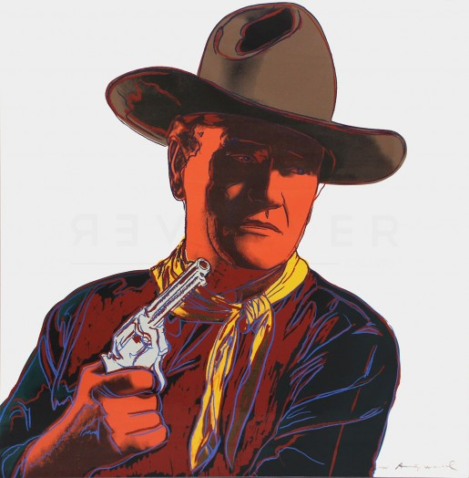 "Andy Warhol, John Wayne (FS II.377), from the Portfolio ""Cowboys and Indians"", 1986"