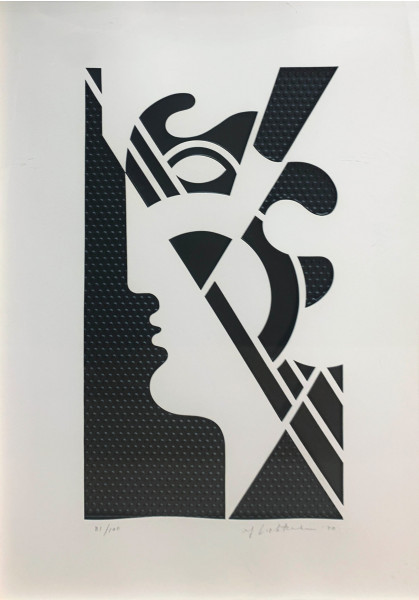 Roy Lichtenstein, Modern Head #5 from Modern Head series, 1970