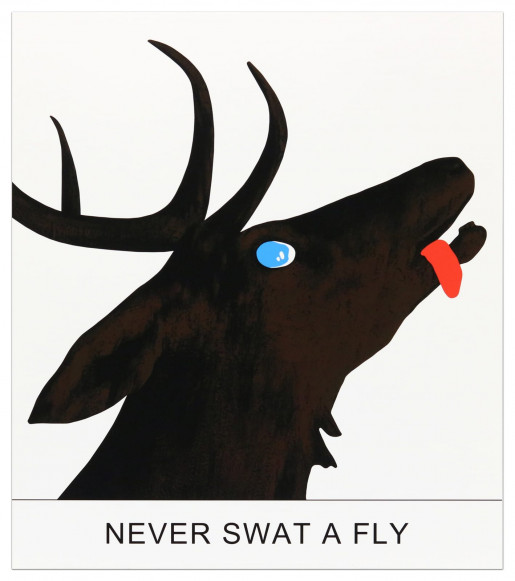 John Baldessari, Double Play: Never Swat a Fly, 2012