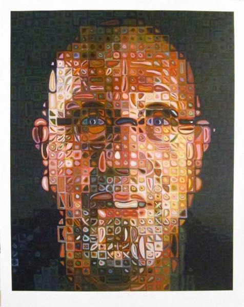 Chuck Close, Self-Portrait Screenprint, 2012