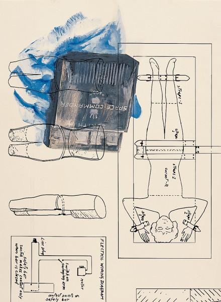 Tony Oursler, Trick (1/2 blue), 2001