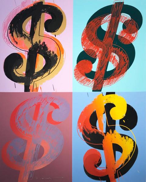 Andy Warhol, $ (Quadrant) (FS II. 283), 1982