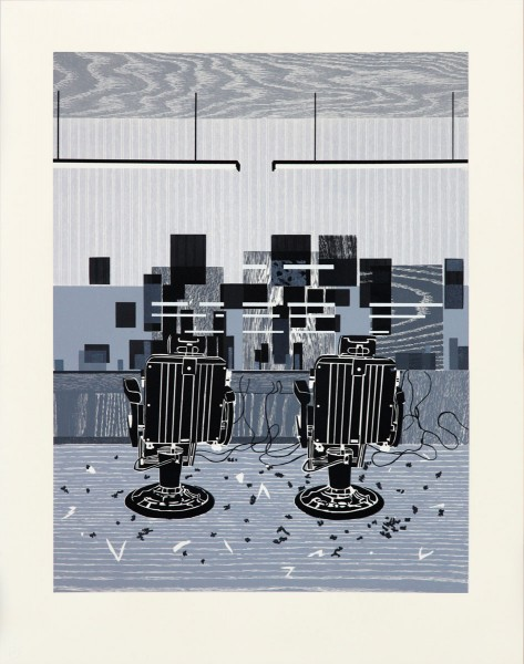 Hurvin Anderson, Barbershop Print, 2010
