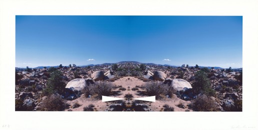 Ed Ruscha, Bow-Tie Palm Springs (Bow-Tie Landscapes), 2003