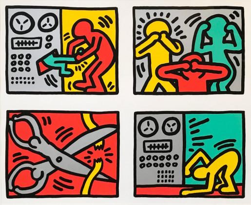 Keith Haring, Pop Shop Quad III, 1989