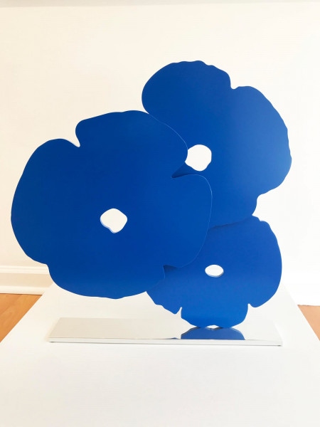 Donald Sultan, Blue Poppies, 2015