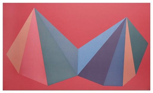 Sol LeWitt, Two Asymmetrical Pyramids: Plate 1, 1986