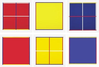 Rot, Gelb, Weiss, Blau by Imi Knoebel