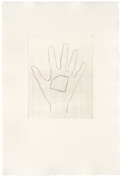 Jonathan Monk - My Left Hand Holding a Square Shaped Piece of Paper with the Top Left Hand Corner Removed / with the Bottom Right Hand Corner Removed / with the Top Right Hand Corner Removed / with the Bottom Left Hand Corner Removed