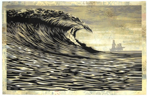 Shepard Fairey, This New Wave Is A Little Slick For My Taste, 2014