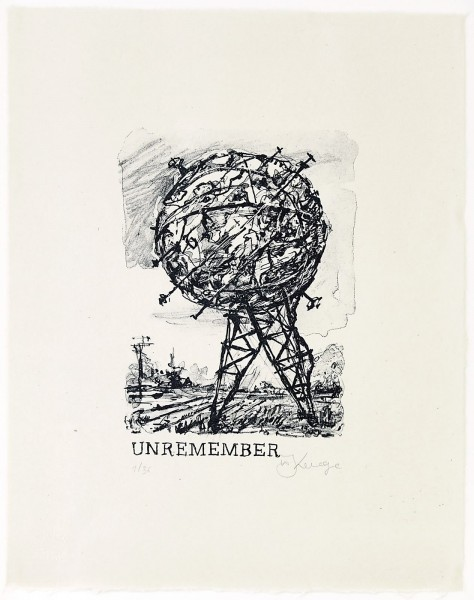 William Kentridge, Unremember Me, 2015