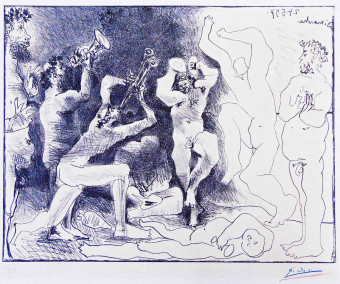 The Dance of the Fauns | La Danse des Faunes by Pablo Picasso
