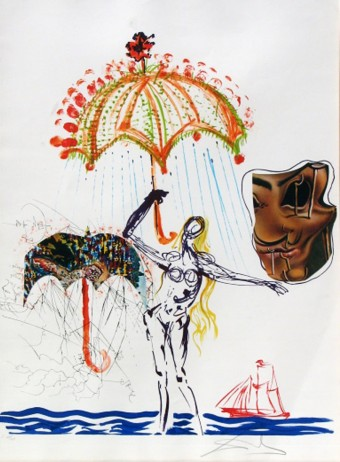 Anti-Umbrella with Atomized Liquid from Imagination and Objects of the Future by Salvador Dalí