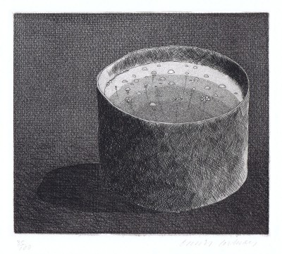 "The Pot Boiling (from ""Illustrations for Six Fairy Tales from the Brothers Grimm"") by David Hockney"