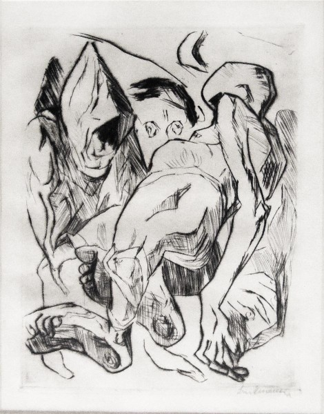 Max Beckmann, Second Illustration for Chapter One, from: The Duchess | Die Fürstin, 1917
