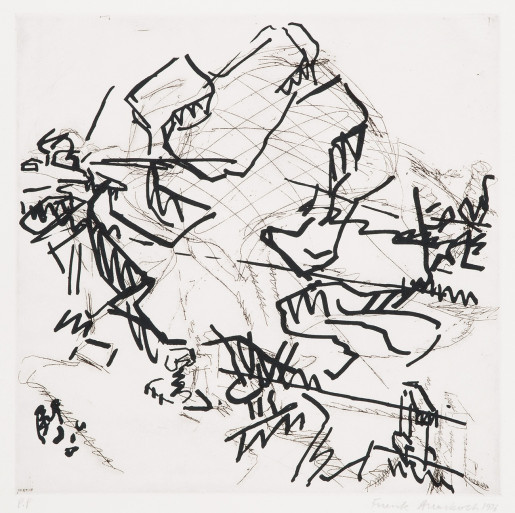 Frank Auerbach, Tree at Tretire 2, 1976