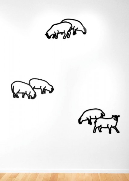 Julian Opie, Sheep 1-3, from Nature 1 Series, 2015