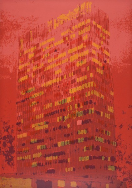 Enoc Perez, Lever House (Red), 2011