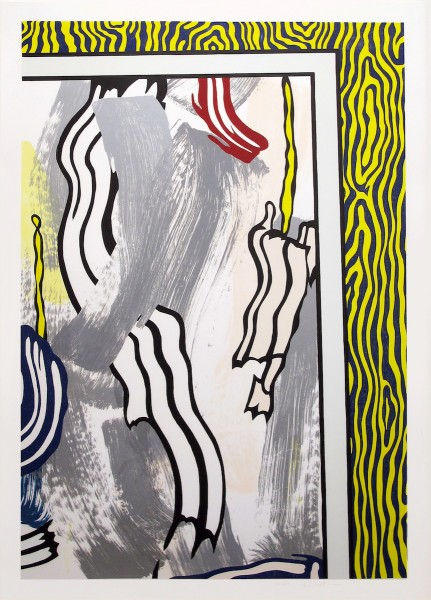 Roy Lichtenstein, Painting On Blue And Yellow Wall, 1984