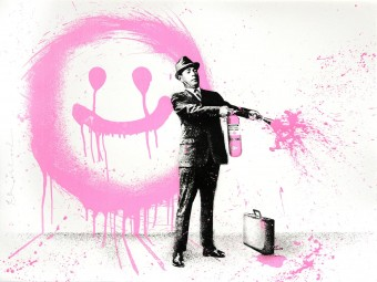 Spray Happiness Pink by Mr. Brainwash