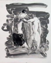 Two Bathers, Black and White