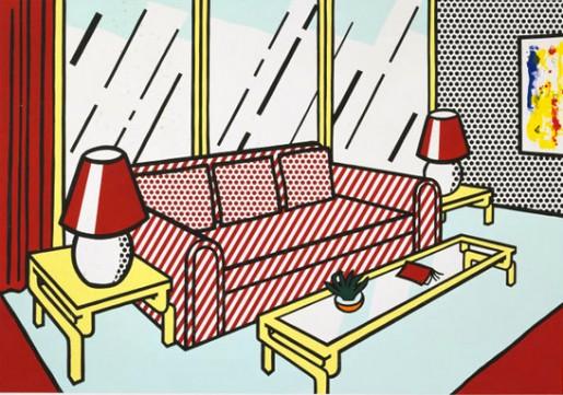 Roy Lichtenstein, Red Lamps, 1990