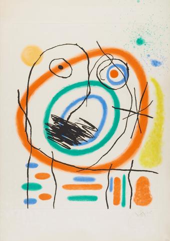 Le Prophète Encerclé by Joan Miró