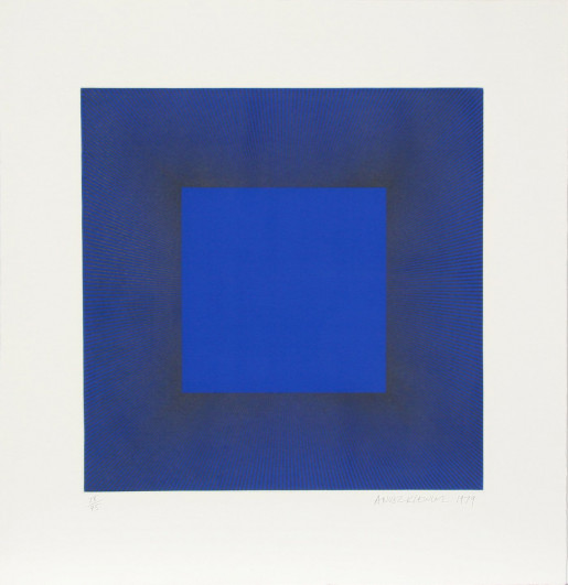 Richard Anuszkiewicz, Midnight Suite (Blue with Black), 1979