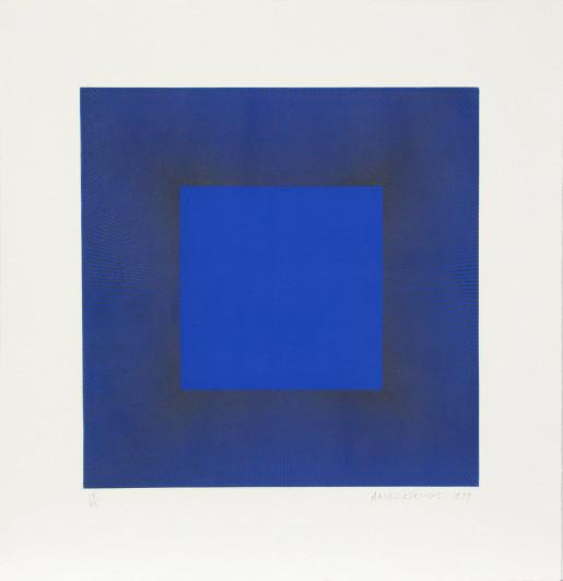Richard Anuszkiewicz, Midnight Suite (Blue with Black), 1979