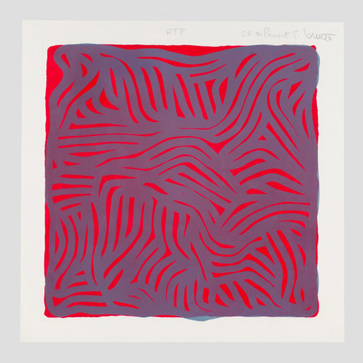 Sol LeWitt, Parallel Curves (Red), 2000