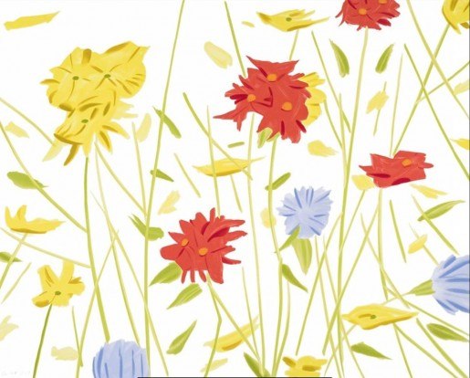 Alex Katz, Wildflowers, 2017