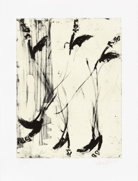 Georg Baselitz, Sono sei piedi, 2015
