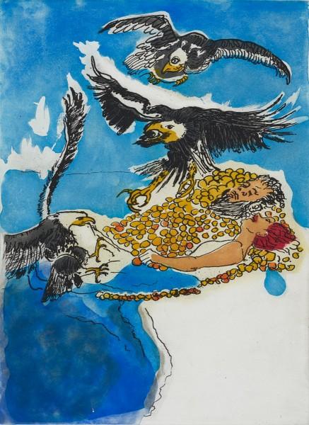 Paula Rego, Money Bath, 2015