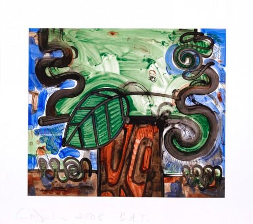 Carroll Dunham, Big Leaf, 2008