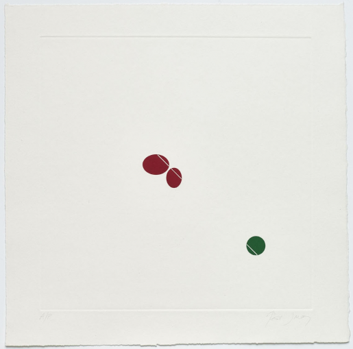 Tess Jaray, Green and Red, 1976