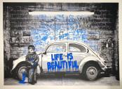 VW Beetle Blue