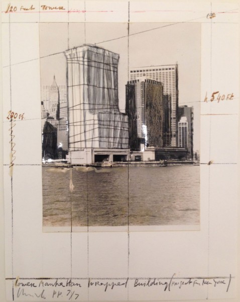 Christo, Lower Manhattan Wrapped Building, Project for New York, 1985