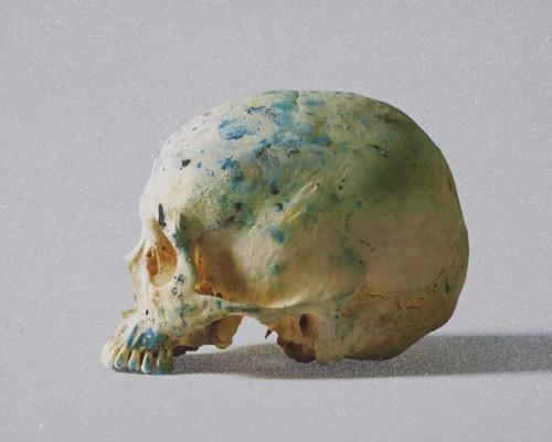Studio Half Skull, half face by Damien Hirst