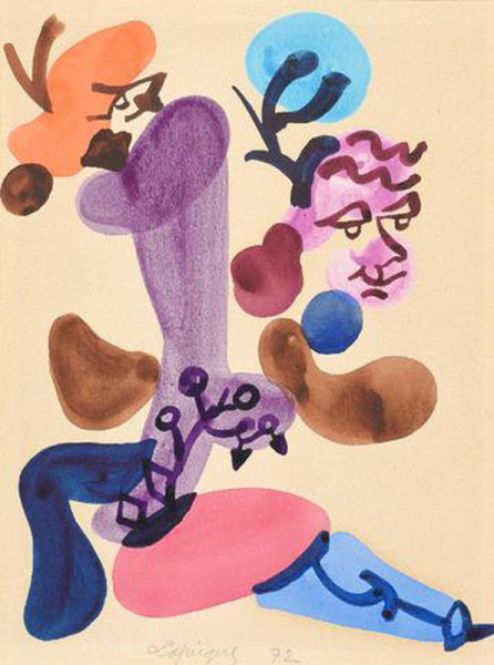 Charles Lapicque, Composition, 1972