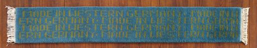 Rosemarie Trockel, Made in Western Germany Blue (2), 1990